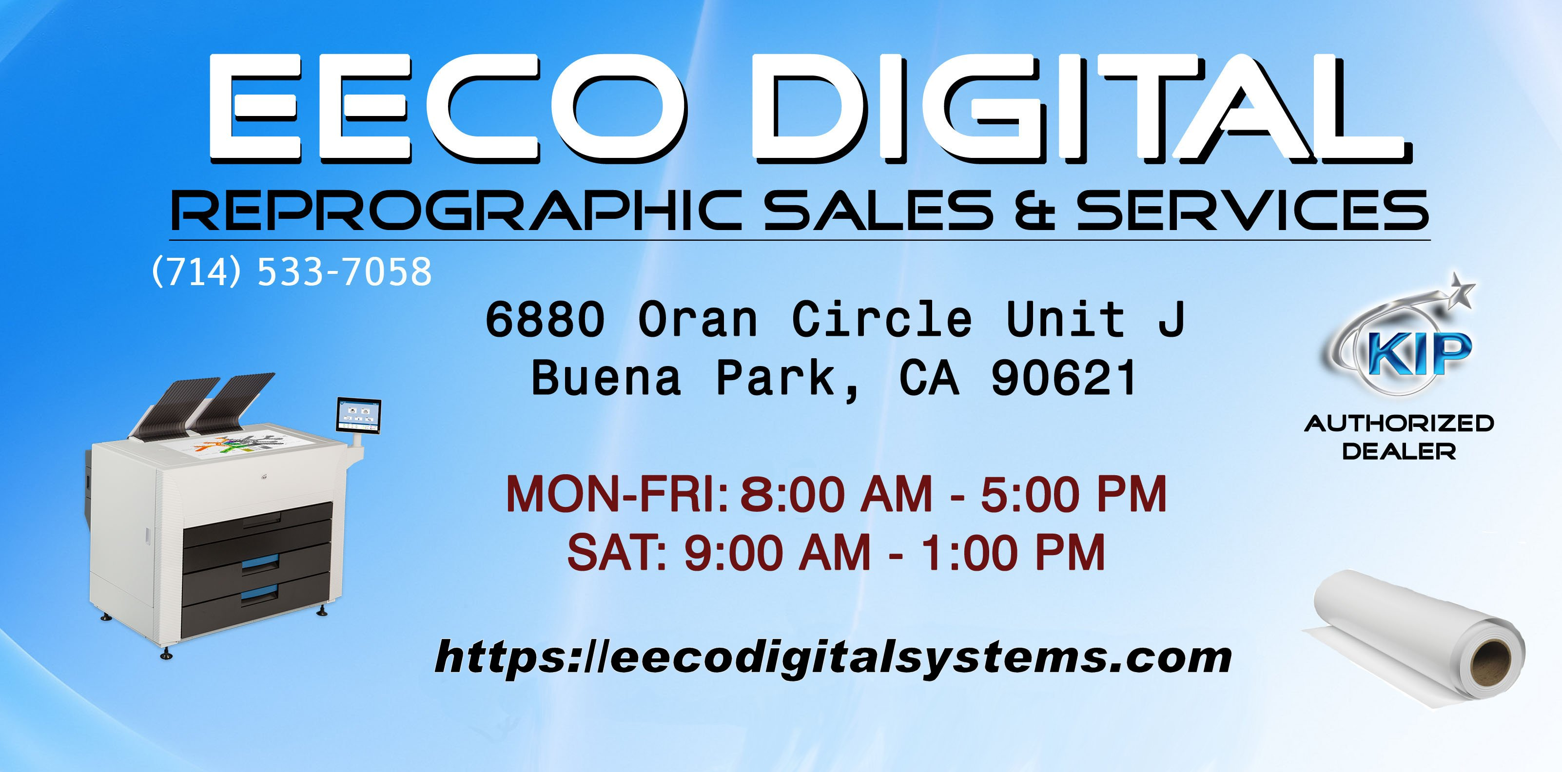 EECO DIGITAL, Printing, Print Shop, Print Shop Near Me, Large Format, Color, Black and white